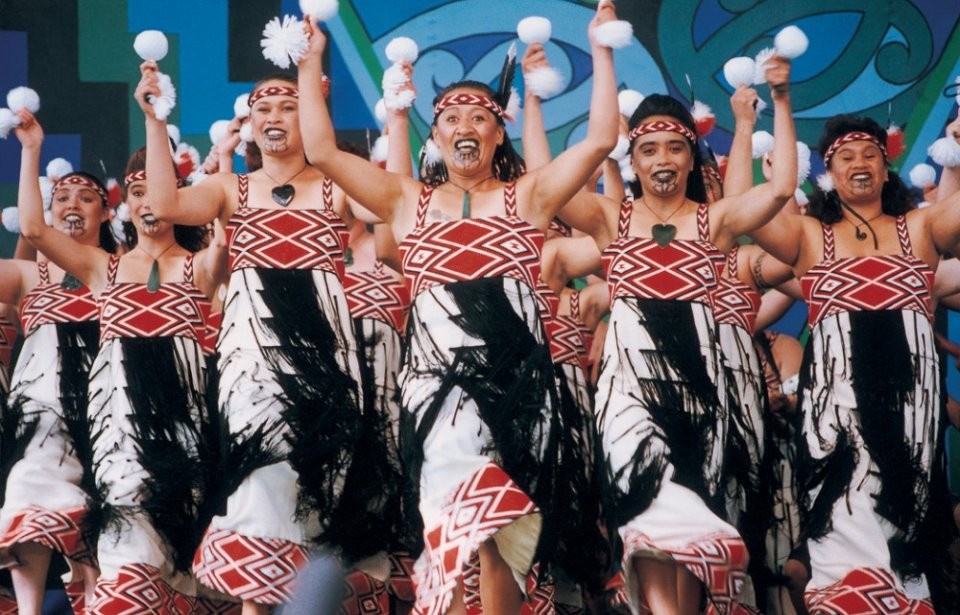 Maori tanssiesitys