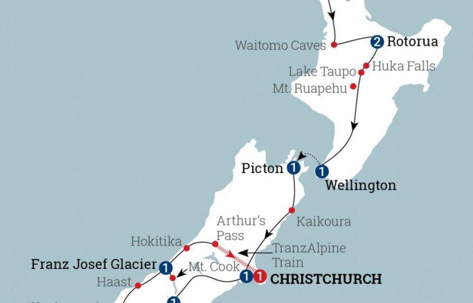 Uusi-Seelanti kartta