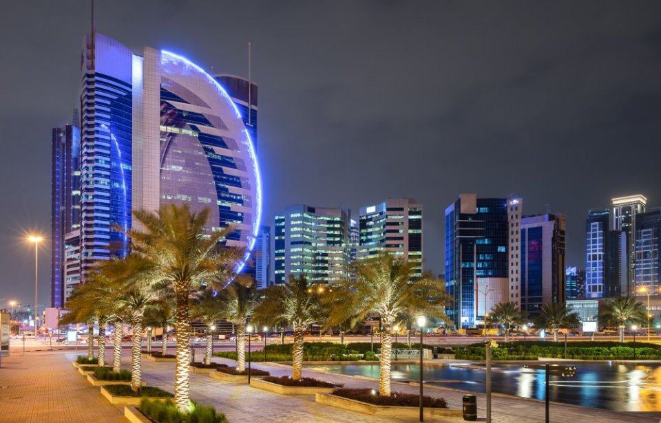 Night skyline, Doha