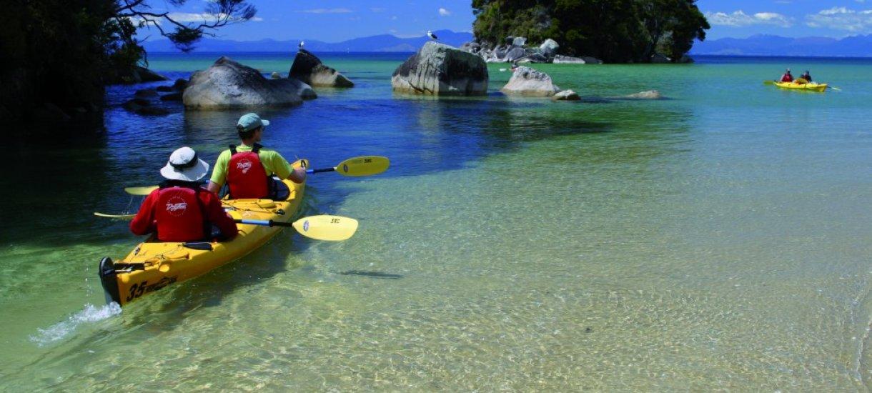 Kajakeilla Uudessa-Seelannissa
