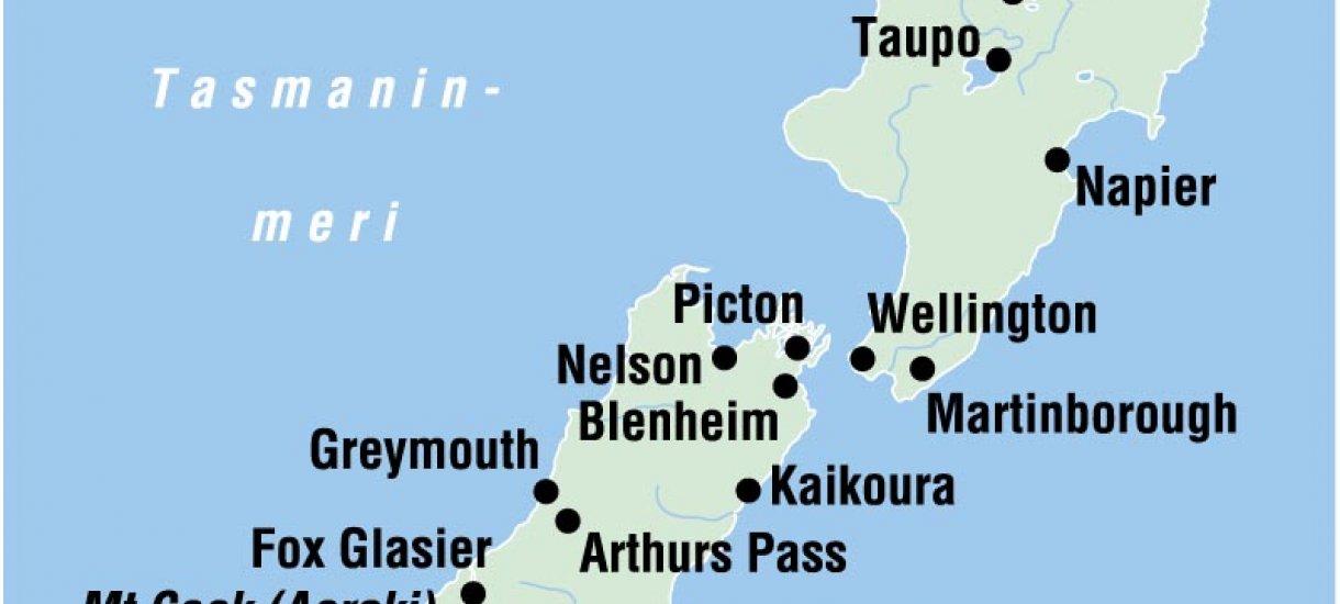 Uusi-Seelanti -kartta